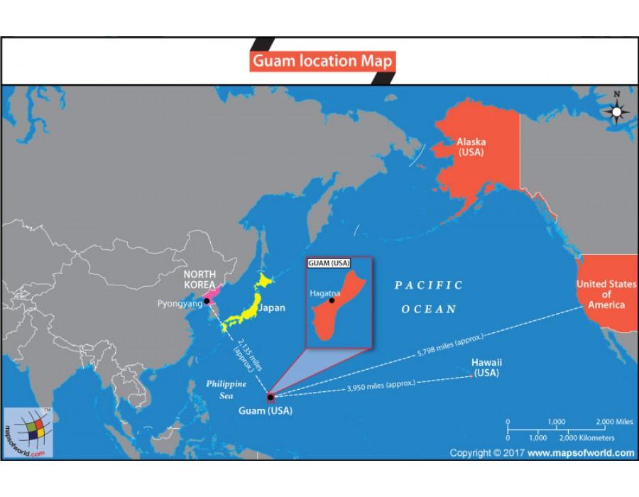 Buy Guam Location Map