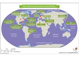 Map of Best Amusements Parks Around The World