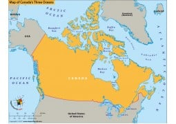 Map of Canadas Three Oceans - Digital File