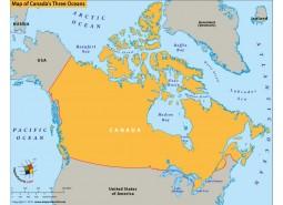 Map of Canadas Three Oceans