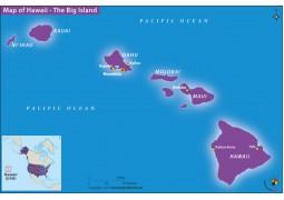 Map of Hawaii The Big Island