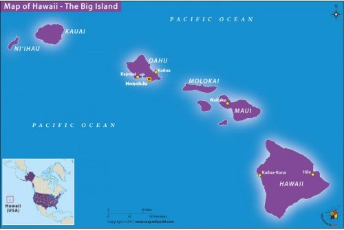 Map of Hawaii The Big Island