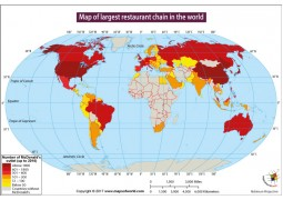 Map of Largest Restaurant Chain In The World