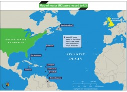 Map of Major UK Bases Leased to US