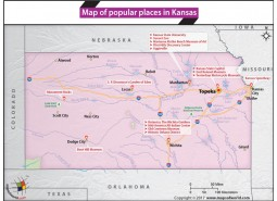 Map of Popular Places in Kansas