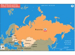 Map of Russia And The Former Soviet Republics