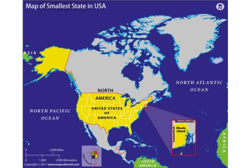 Map of Smallest State In USA