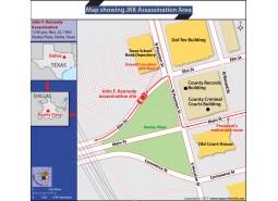 Map Showing JKK Assassination Area