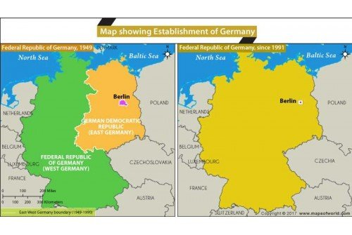 Map Showing Establishment of Germany