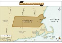 Massachusetts Bay Colony Map - Digital File