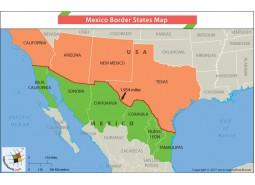 Mexico Border States Map