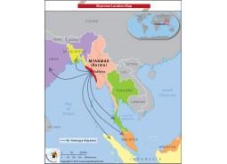 Myanmar Location Map