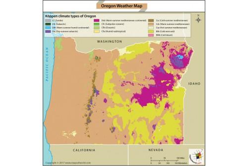 Oregon Weather Map
