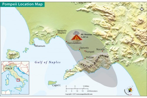 Pompeii Location Map