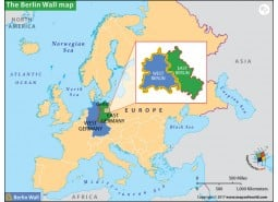 The Berlin Wall Map