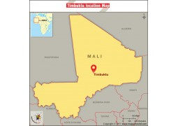 Timbuktu Location Map - Digital File