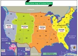 Time Zone Map of United States
