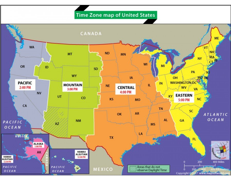 It's just a picture of Simplicity United States Timezone Map Printable