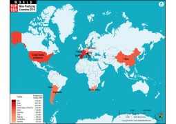 Top 10 Wine Producing Countries Map