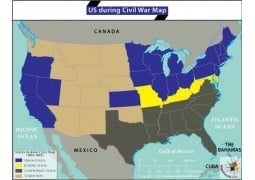 Buy US States And Capitals Map Online Digital US States And - Map of the us during civil war