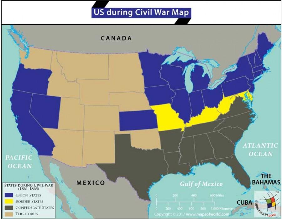 Buy US Map During Civil War