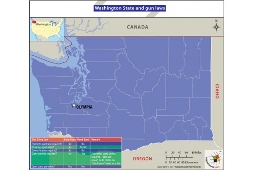 Washington State and Gun Laws Map