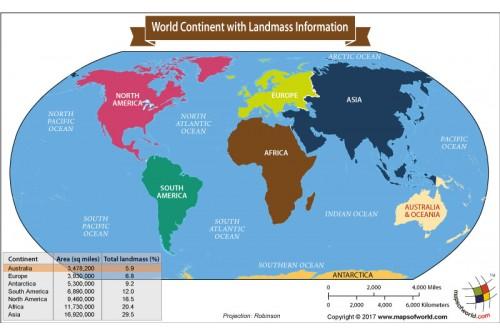 World Continent Map With Landmass