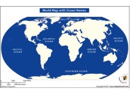 World Map With Ocean Names