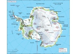 Antarctica Continent Map - Digital File