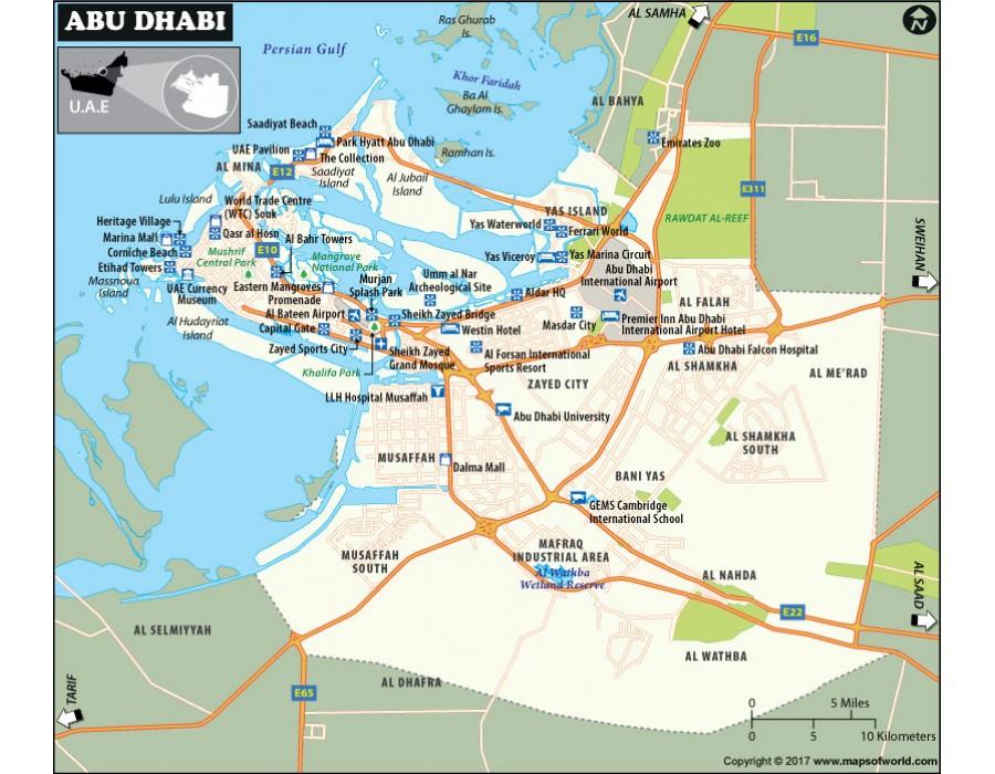 Buy Map of Abu Dhabi | Maps of World Buy Maps on