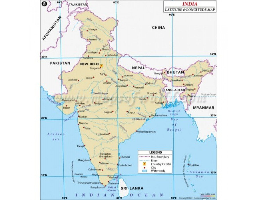 india map with latitude and longitude Buy India Latitude And Longitude Map india map with latitude and longitude