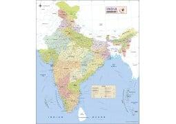 India Detailed Map - Digital File