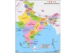 India Political Map - Digital File