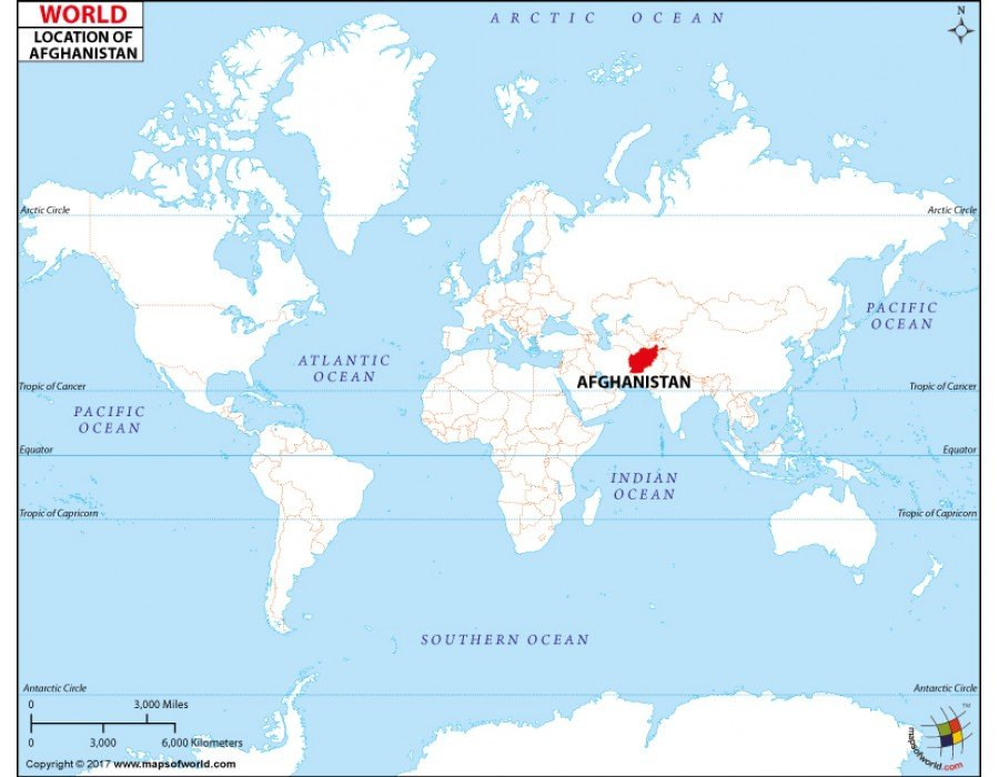 map of afghanistan in the world Buy Afghanistan Location On World Map map of afghanistan in the world
