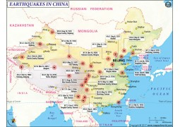 Earthquakes in China Map