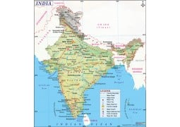 India Land Use Map - Digital File