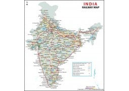 Indian Railway Map - Digital File