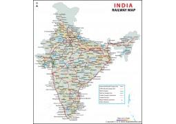 Indian Railway Map - Digital File