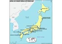 Japan 2019 Rugby World Cup Venues Map - Digital File