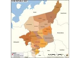 Komi Republic Map