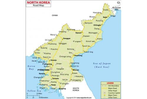 North Korea Road Map