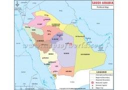 Saudi Arabia Political Map