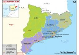 Cataluna Political Map - Digital File