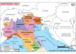 Map of Northern Italy - Digital File