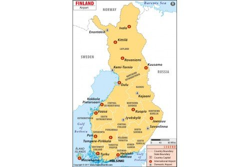 Buy map of finland airports map of finland airports sciox Image collections