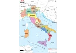 Italy Region Map - Digital File
