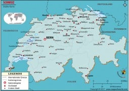 Karte der Schweizer Stadte - Digital File