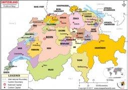 Political Map ofSwitzerland - Digital File