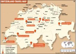 Switzerland Travel map - Digital File