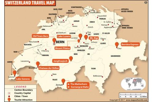 Switzerland Travel map
